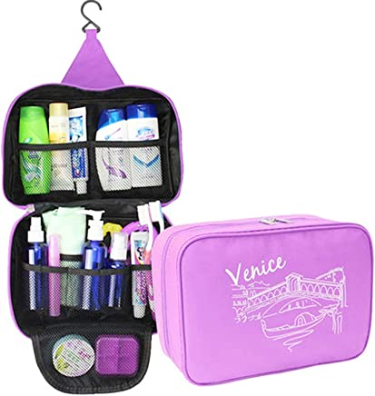 Hemiza Waterproof Polyester Fabric Hanging Cosmetic/Make up/Jewellery/Toiletry Storage Organizer (Multicolour)