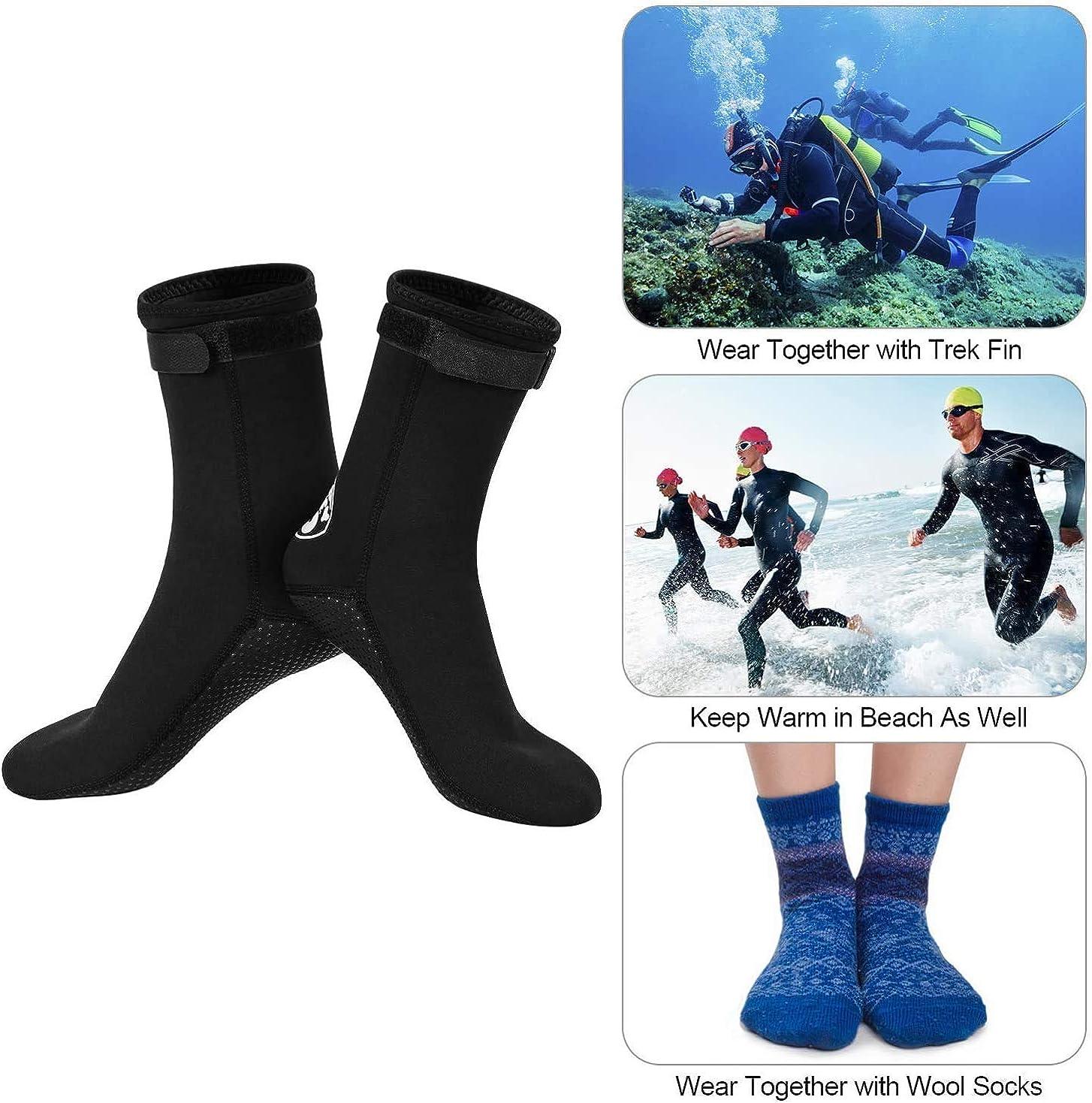 kayak Pour natation voile Pour homme et femme YJZQ Chaussettes thermiques antid/érapantes en n/éopr/ène de 3 mm pour plong/ée sous-marine sports aquatiques surf