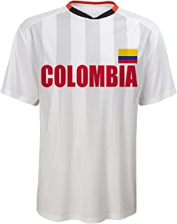 World Cup Soccer Colombia Federation Jersey Short Sleeve Tee, Medium (10-12), White