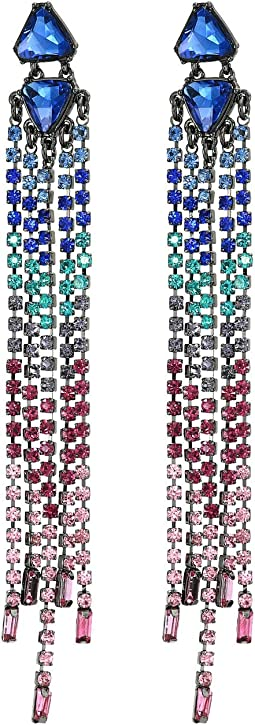 Gemma Slim Crystal Fringe Earrings