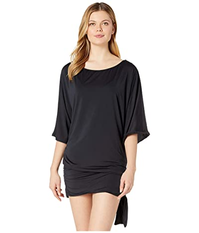 MICHAEL Michael Kors Classic Side Tie Cover-Up (Black) Women