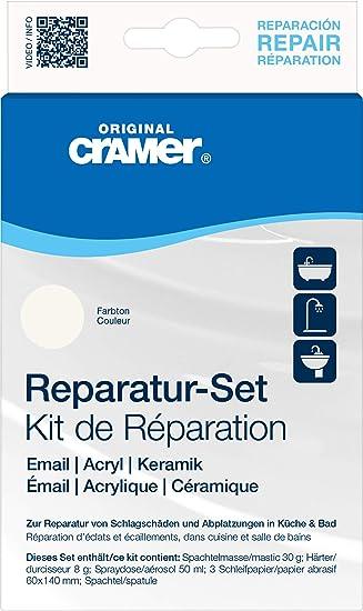 Cramer Kit Riparazione Per Superfici Smaltate Ceramica Acrilico Vasche Da Bagno Piatti Doccia Sanitari 16080 Amazon It Fai Da Te