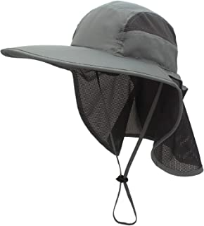 OZ SMART Wide Brim Sun Hat UPF 50 + UV Protection, Premium Bucket Hat with Neck Flap for Fishing, Hiking, Camping, Garden,...