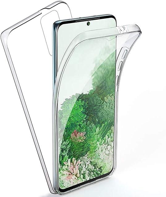 TBOC Funda para Samsung Galaxy S20+ - Samsung Galaxy S20 Plus [6.7] - Carcasa [Transparente] Completa [Silicona TPU] Doble Cara [360 Grados] Protección Integral Total Delantera Trasera Lateral Móvil