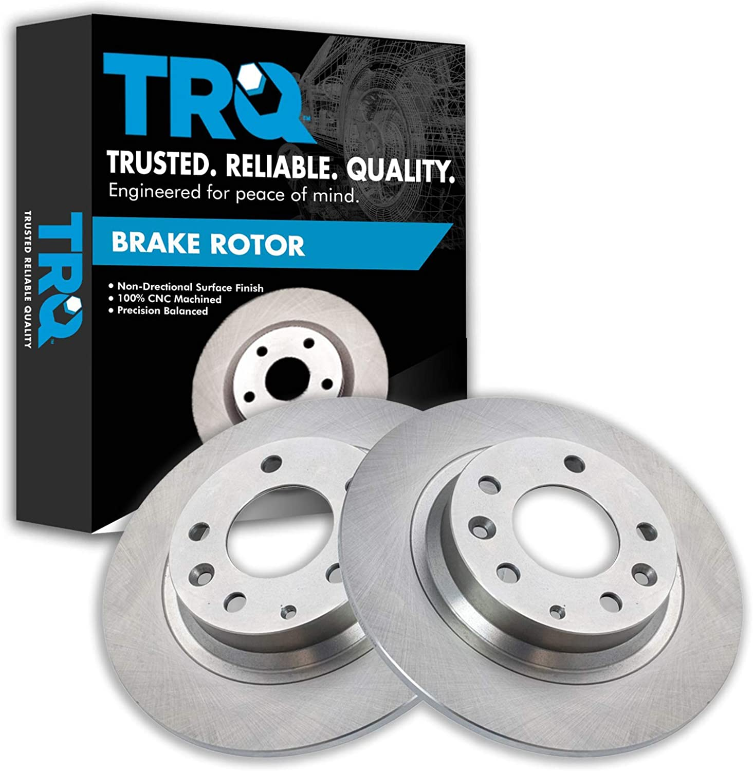 TRQ Rear Disc Brake Fort Worth Mall Rotor Pair Mazda for 2006-20 2003-2013 Ranking TOP13 Set 6