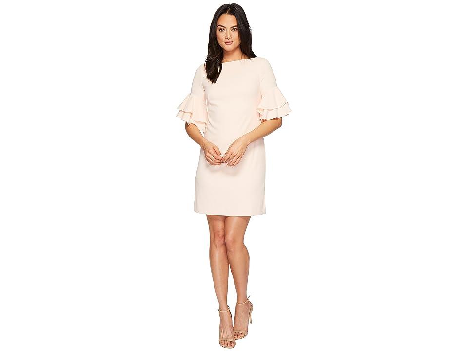 LAUREN Ralph Lauren Silvana Luxe Tech Crepe Dress (Rose Mist) Women
