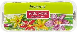 Fevicryl Acrylic colors, Sunflower Kit, 10 Shades - Kushuworld