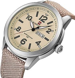 New Men Quartz Watch Fashion Sport Calender Watches Nylon Strap Wristwatch Gift Watch 30M Waterproof