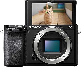 Sony Alpha 6100 - Cámara Evil de 24.2 MP (Sensor APS-C CMOS Exmor R Montura E procesador Bionz X 425 Puntos de AF a 0.02 s Eye AF grabación 4K Pantalla táctil) - Solo Cuerpo