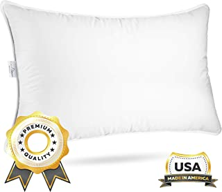 "ComfyDown Goose Down Sleeping Pillow - ""Soft"" Density Pillow, 650 Fill Power, 300-Thread Count Egyptian Cotton Cover - Hypoallergenic, Made in USA - (Standard)"
