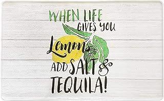 JCB Home Anti-Fatigue Lemon Kitchen Mat. Memory Foam Kitchen Mat with Non-Slip Surface. Farmhouse Tequila Lemon Kitchen Ru...