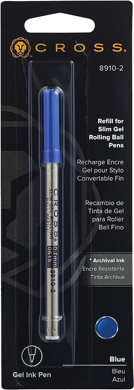 Award-winning store Cross Slim Gel Rollerball Elegant Pen Blue Refill Single Pack -