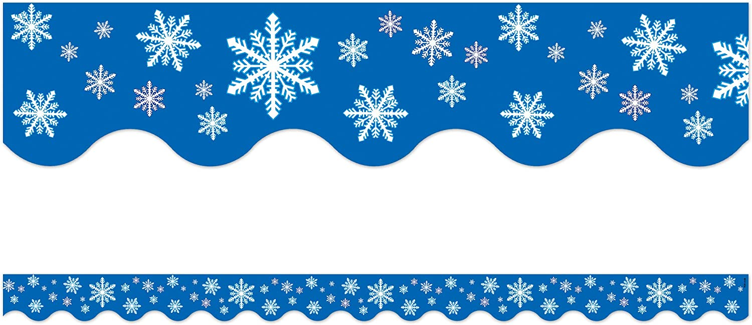 Teacher Created Resources Snowflakes Border Max 70% OFF Trim 4 Fort Worth Mall Multi Color