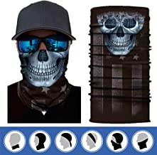 ECOMBOS 6Pcs Multifonction Tour de Cou Bandanas Tube Masque Visage Bandeau Sport Femme Homme Enfant