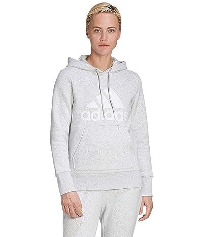 adidas Badge of Sport Hoodie (Light Grey Heather) Women