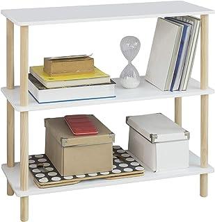 SoBuy STR02-WN Estantería de 3 Niveles para Baño Librería
