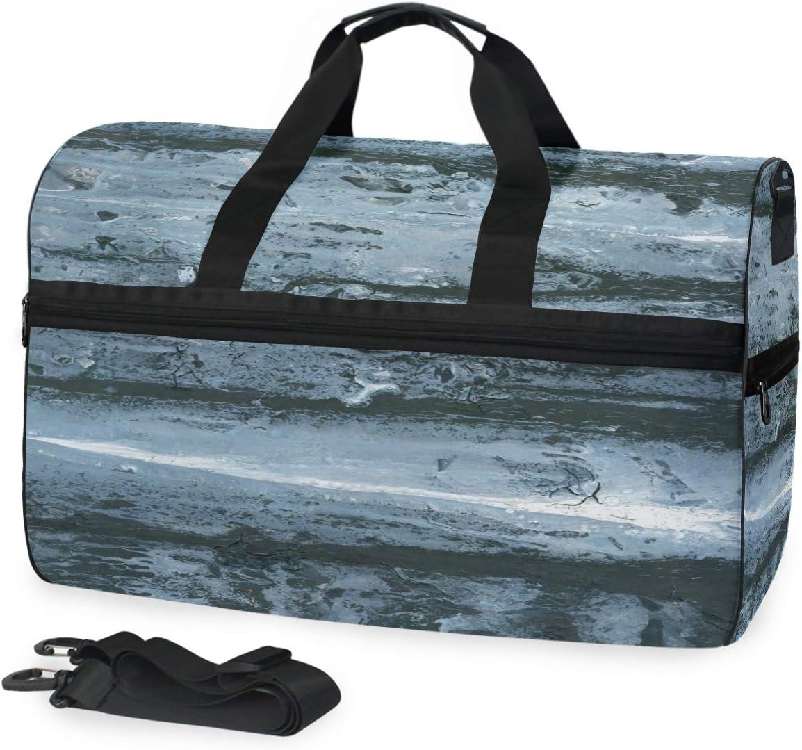 Mesa Mall supreme Sports Swim Gym Bag with Shoes Abstract Grey Painting Art Black