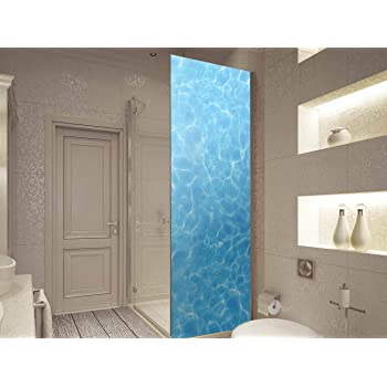 Vinilo para Mamparas Baños Agua Limpia | Varias Medidas 185x60cm | Adhesivo Resistente y de Fácil Aplicación | Pegatina Adhesiva Decorativa de Diseño Elegante: Amazon.es: Hogar