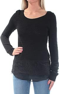Womens Lace Mix Sweater