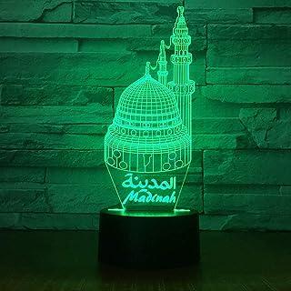 Lampe 3D créative Unique Acrylique Lampe de Table LED à économie d'énergie pour Chambre à Coucher Lampe décorative de Chev...