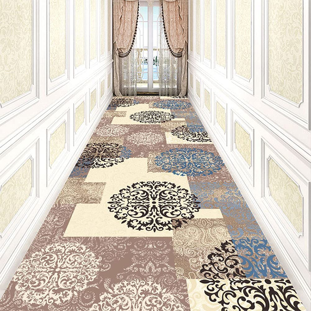 We OFFer at cheap prices Aabbcdf Ranking TOP6 Carpet Runner Modern Pattern Long Non-Slip Hallway Narr
