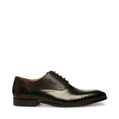 Steve Madden Private (Black Leather) Men