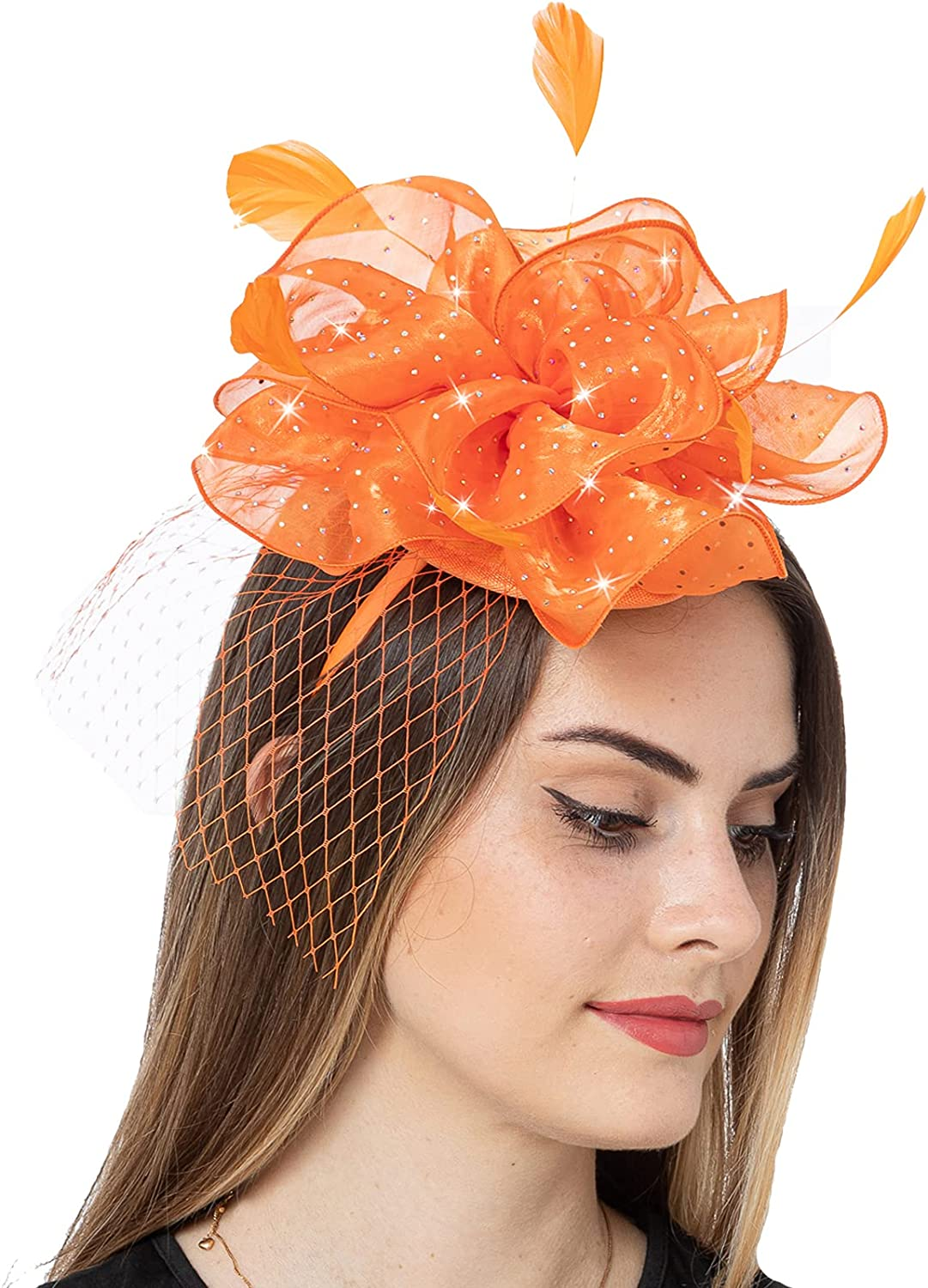 ! Super beauty product restock quality top! Fascinator Hats for Women All items in the store Kentucky Derby Party Tea Cock Headband