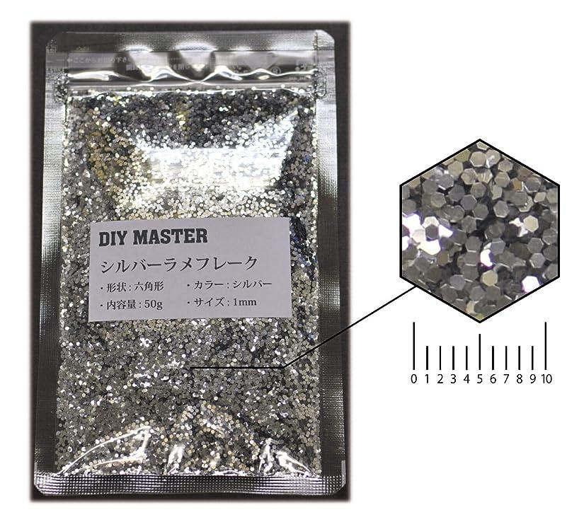 漁師わかりやすい暴露DIY MASTER シルバー ラメフレーク 1mm 50g