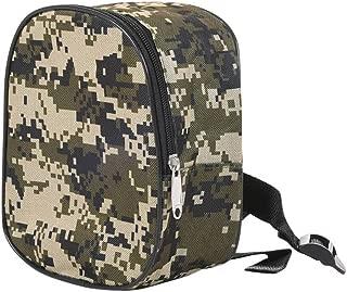 Carrete de pesca, bolsa de almacenamiento, bolsa para aparejos, camuflaje al aire libre, mini portátil