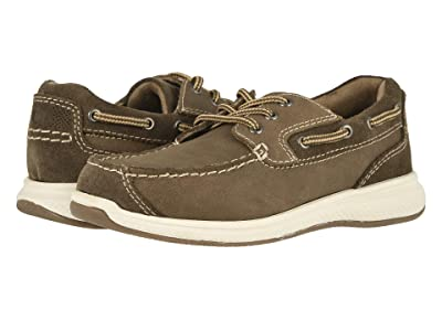Florsheim Kids Great Lakes Moc Ox, Jr. (Toddler/Little Kid/Big Kid) (Stone Crazy Horse/Suede) Boy