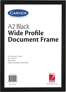 CARVEN 40051 Document Frame Plastic, Black A2
