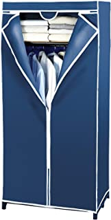 WENKO Armoire-penderie avec étagère Air - toison respirante, Polypropylène, 75 x 160 x 50 cm, Bleu
