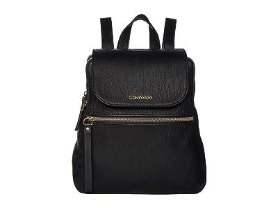 Calvin Klein Elaine Novelty Backpack (Black/Gold) Backpack Bags