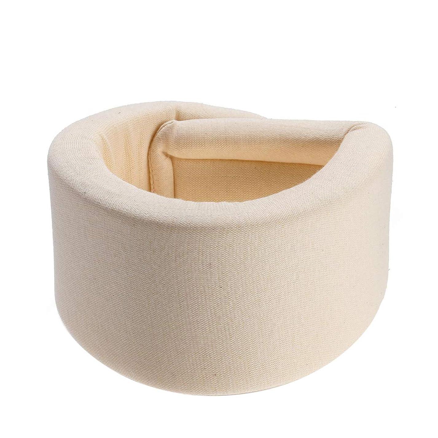 家具商人聡明HEALLILY 首装具サポートスポンジ頸部襟首の痛みを防ぐネックケア姿勢矯正器具(ベージュ) - サイズL
