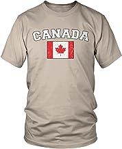 Amdesco Men's Canadian Flag, Flag of Canada, Canada Flag T-Shirt