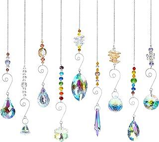 9 stuks zonnevangers, kristallen decoratieve hangers, kristallen glazen prisma-hangers, lampen, decoratieve hangers, krist...