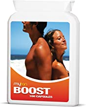 MyTan Boost Sun Tan Pills | Tanning Booster | 100 Capsules | All Natural Tanning Pills | No Risk Refund If Not Entirely Satisfied