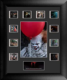 Trend Setters Stephen King It – Pennywise and Balloon – Limited Edition FilmCells Presentation - Features 10 Clips of Authentic 35mm Film from The Movies - Perfect for Horror Film Fans