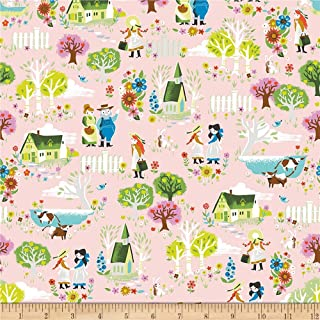 Riley Blake Kindred Spirits Town Pink Fabric by the Yard