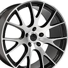 OE Wheels 20 Inch Fits Dodge Challenger Charger SRT8 Magnum Chrysler 300 SRT8 DG15 Hellcat Style Gloss Black Mach'd 20x9 Rim Hollander 2528