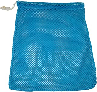 SGT KNOTS Mesh Bag USA Made (Medium) 550 Paracord Drawstring Bag - Ventilated Washable Reusable Stuff Sack for Laundry, Gym Clothes, Swimming, Camping, Travel (18 inch x 30 inch - Sky Blue)