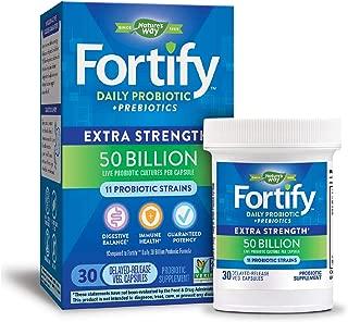 Nature's Way Daily Probiotic, 50 Billion Live Cultures, 11 Strains, Prebiotics, 30 Capsules