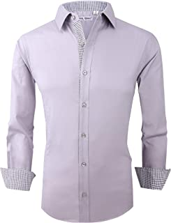 Alex Vando Mens Dress Shirts Regular Fit Long Sleeve Men Shirt
