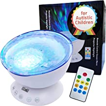 Autism Toys Kids Calming Ocean Wave Projector for Autistic Children - Music - AUX – for ASD Boys Girls Sleep Bedroom Room ...