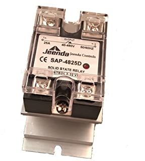 Holdwell Solid State Relay SSR DC-AC 25A 3-32VDC/40-480VAC with Heatsink for Crydom D4825D