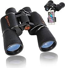 Binoculars for Adults, 10x50 Compact Binoculars for Bird Watching with FMC BAK-4 Porro Prism Lens, Easy to Focus Waterproo...