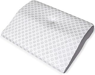 Kinga 枕 ストレートネック まくら 低反発枕 セブンスピロー 安眠枕 人間工学設計 枕 中空設計 頭・肩をやさしく支える 通気性 ストレス解消 カバー洗い可能