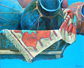 Blue Pots 3 by Sharon Weiser Laminated Art Print, 25 x 20 inches