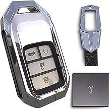 $22 » Zinc alloyKey Fob Cover Case Jacket Skin Glove Holder for Honda Accord Civic Fit Pilot Odyssey CRV Clarity CRZ HRV Ridgeli...