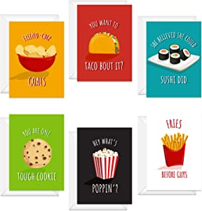 Bestie Food Note Cards / 4 5/8